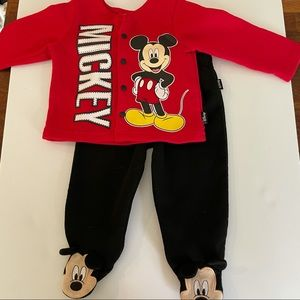 Disney Mickey Mouse matching set 3-6 months